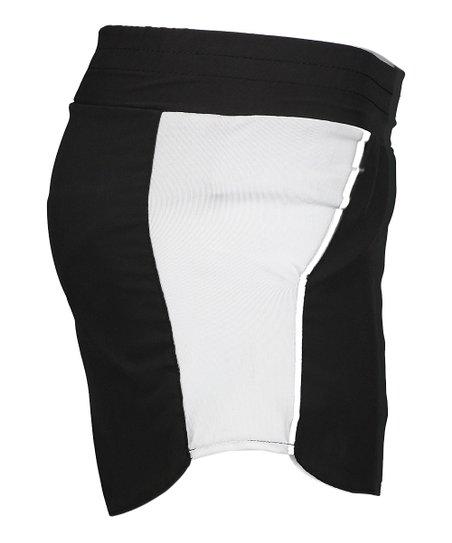 5ee6b75b2 S2 Sportswear Black & White Color Block Running Shorts - Women | Zulily