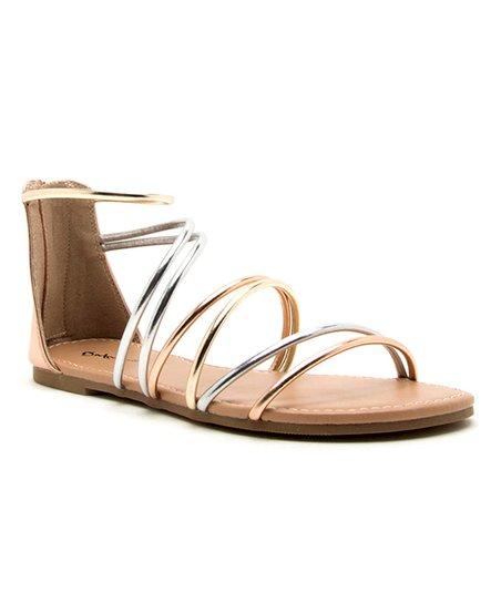 3ce5942f500 love this product Rose Gold Metallic Archer Gladiator Sandal - Women