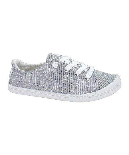 Jellypop Gray & White Pin Dot Dallas Sneaker Women | Zulily