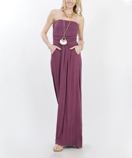 574bb8d3f52 love this product Eggplant Tube-Top Pocket Maxi Dress - Women