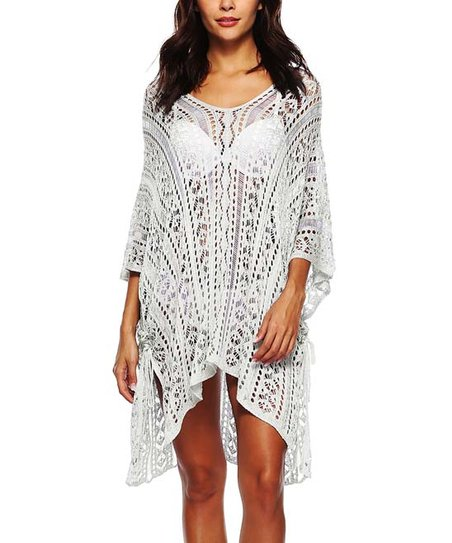 68e7572b24 love this product White Eyelet Sheer Hi-Low Cover-Up - Women
