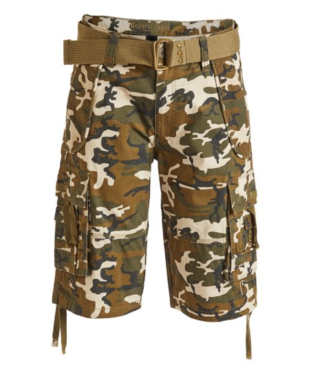 596a3b5836 Request Jeans Olive Camo Belted Cargo Shorts - Boys, Men & Big | Zulily