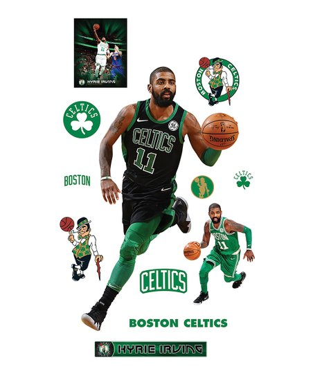 low priced dd659 09da0 Fathead Fathead Boston Celtics Kyrie Irving Black Jersey Life-Size Decal Set