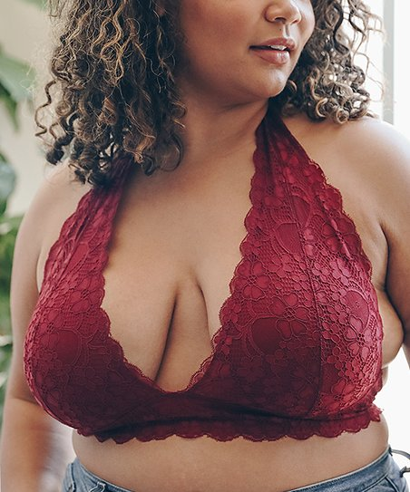 8bb55abd02212 Leto Collection Berry Halter Bralette - Plus