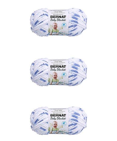 Bernat Little Denim Baby Blanket Yarn Skein - Set of Three