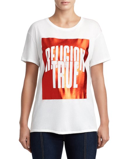 f911cd08 love this product Soft White 'True Religion' Tee - Women