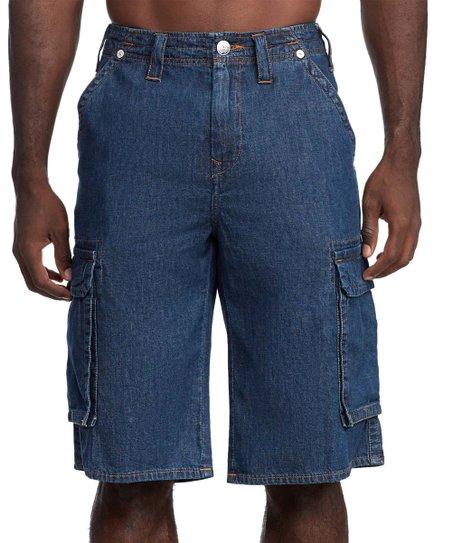 e6205b3771 True Religion Deep Indigo Cargo Shorts - Men & Big | Zulily
