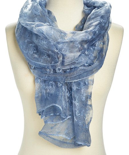 e9b3315fc Italmode Blue Sheer Textured Scarf - Women | Zulily
