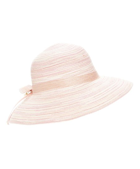 love this product Pink Tie-Accent Sunhat e0a02d1b531