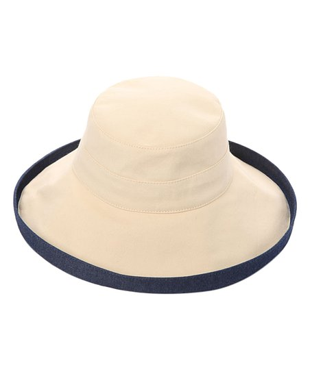 Something Special Ivory   Denim Canvas Bucket Hat  872095bbb1a