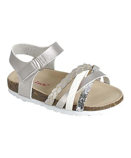 05747f78ab love this product Silver Glitter-Strap Fly Sandal - Girls