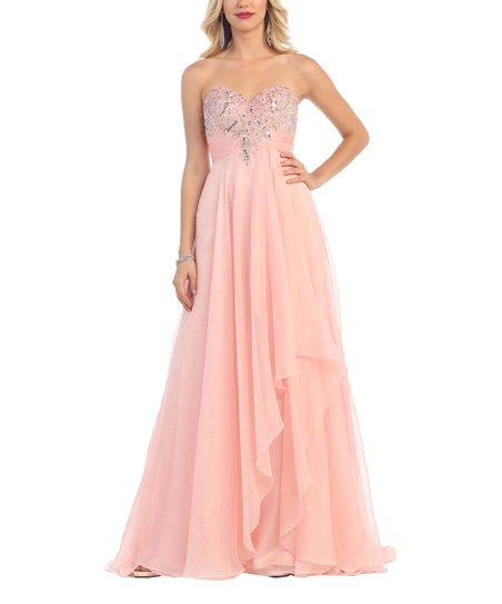 Royal Queen Blush Sequin Bodice A-Line Gown & Shawl - Women