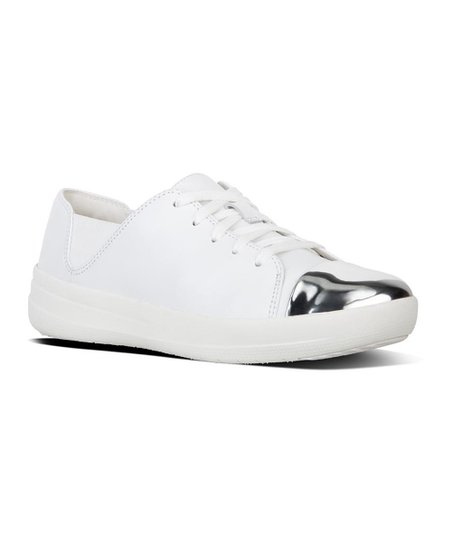 858b605442e72 love this product Urban White Mirror-Toe F-Sporty Leather Sneaker - Women