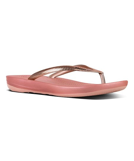2f1f7acb171a72 love this product Rose Gold Mirror Iqushion™ Ergonomic Flip-Flop - Women