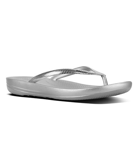 61049270caa2 love this product Silver Mirror iQushion™ Ergonomic Flip-Flop - Women