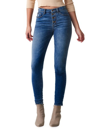 50f64e40430 love this product Medium Wash Roxy High-Rise Button-Fly Skinny Jeans - Women