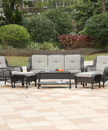 Winsome House Brown Tan Six Piece Outdoor Furniture Set Zulily