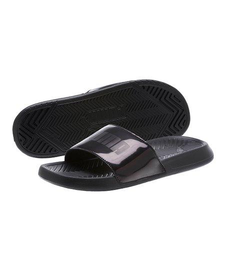 7d4fc7c7343 PUMA Black Popcat Chrome Slide - Women