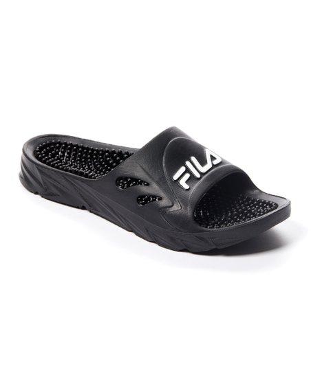 94472adc622 FILA Black Driftonic Massage Slide - Men