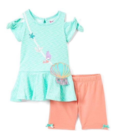 Nannette Kids Blue Under The Sea Tunic /& Leggings