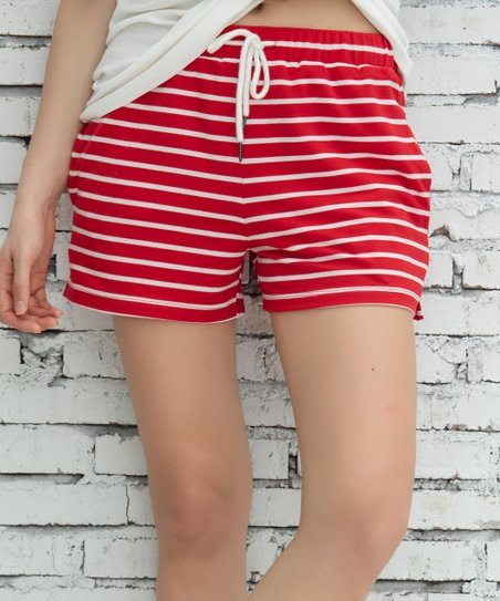 cortesia Alternativa telegramma  Z Avenue Red & White Pocket French Terry Shorts - Women & Plus | Best Price  and Reviews | Zulily