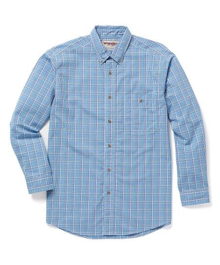 Wrangler Big and Tall Wrinkle Resistant Plaid Shirt