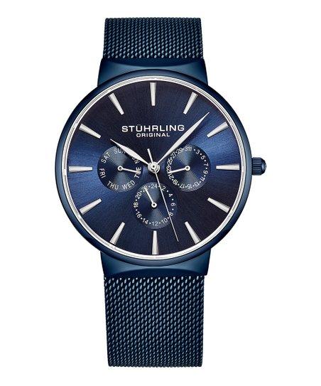 Stuhrling Blue Monaco Bracelet Watch Zulily