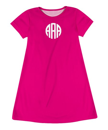 049acd730e0 love this product Hot Pink Monogram T-Shirt Dress - Infant