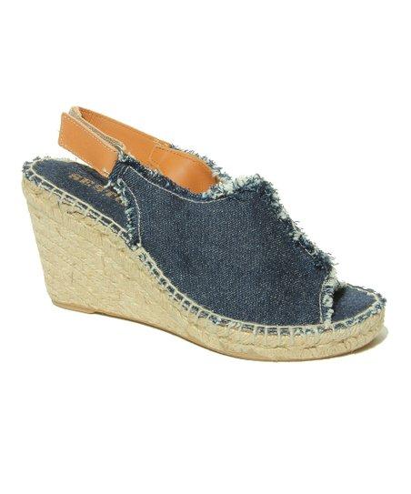 c2c821dbcd6 Sesto Meucci Denim Blue Wedge Sandal - Women