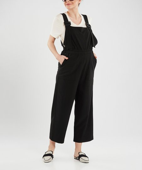 0057c16702e22 37.5 Beloved Black Maternity Overalls | Zulily