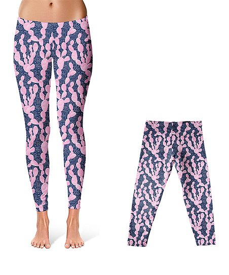 453eb46d love this product Navy & Pink Cactus Leggings - Infant, Toddler, Girls &  Women