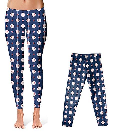 7e4636c90145c love this product Navy Baseball & Stars Leggings - Infant, Toddler, Girls &  Women