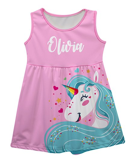 0c96232c5be7 love this product Pink Unicorn Personalized Sleeveless Dress - Infant,  Toddler & Girls