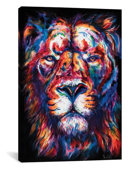 Icanvas Weekday Best Lion Wrapped Canvas Zulily