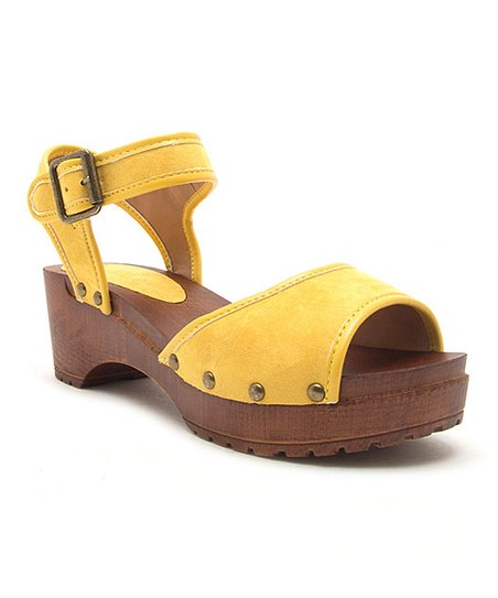 love this product Yellow Keen Peep-Toe Sandal - Women
