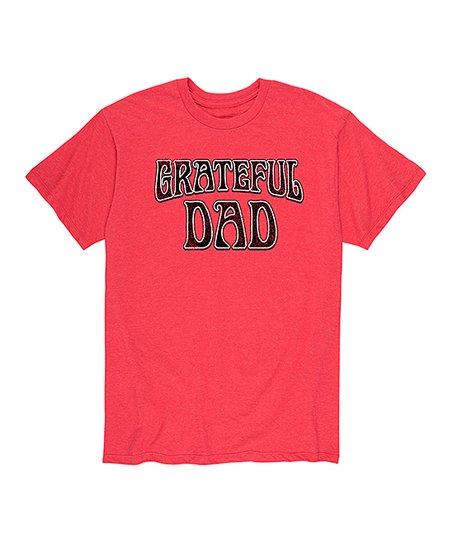 e1fbcbb7e Instant Message Men's Heather Red Grateful Dad Tee - Men   Zulily