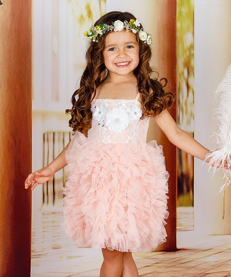 18d4b6a112c love this product Peach Lace Tutu Dress - Toddler   Girls