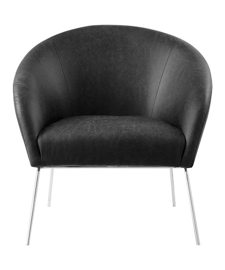 Incredible Nicole Miller Charcoal Silver Will Faux Leather Accent Creativecarmelina Interior Chair Design Creativecarmelinacom