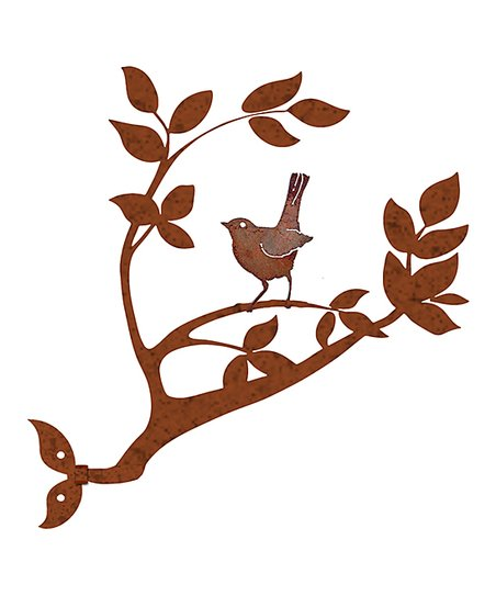 0bb0d1956 California Home and Garden Rust Red Weathered Baby Robin Branch Wall Art