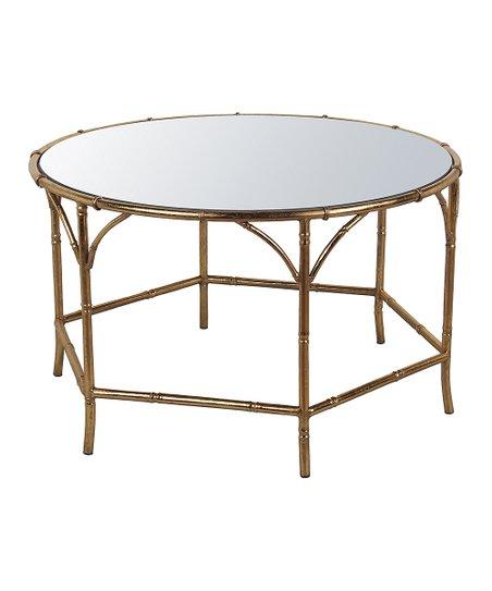 Privilege Gold Finish Metal Coffee Table
