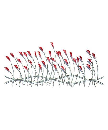 Peterson Housewares Pink Silver Spring Flowers Wall Art