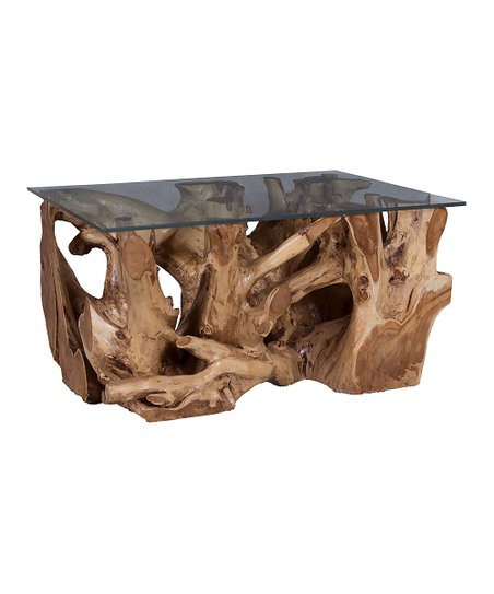 Merveilleux Artistic Home Natural Teak Root Coffee Table