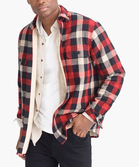 734a530cc7449 J.Crew Mercantile Barn Sherpa-Lined Shirt Jacket - Men