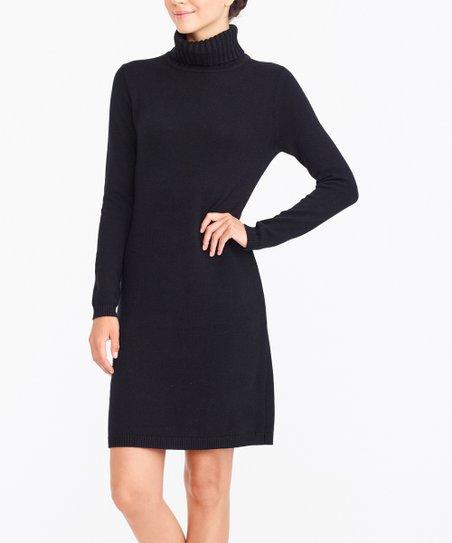 0ef6b9c7c8a J.Crew Mercantile Black Turtleneck Wool-Blend Sweater Dress - Women ...