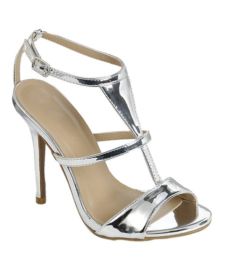 3f83d09460ce love this product Silver Patent Passion T-Strap Sandal - Women