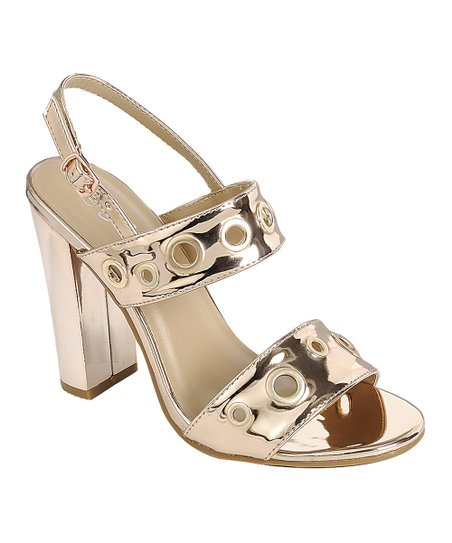 14d1c5699f6 love this product Rose Gold Metallic Grommet Sandal - Women