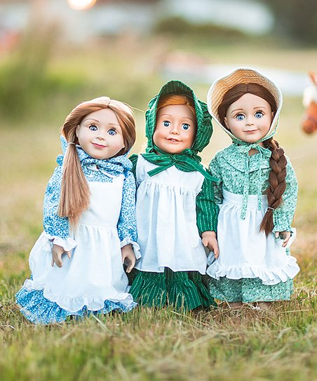 The Queens Treasures Little House On The Prairie Doll Outfit Set Of Three Best Price And Reviews Zulily