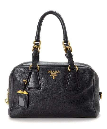 929937a800b5 love this product Pre-Owned Black Vitello Daino Leather Satchel
