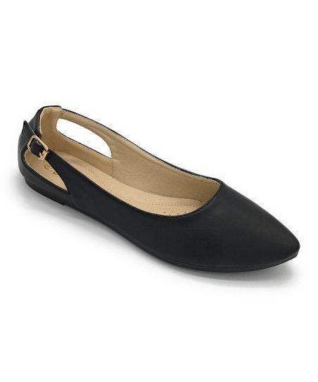 ec303279e J. Mark Black Pleasure Almond-Toe Flat - Women | Zulily