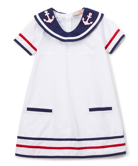 8c76690e7dbab love this product White Nautical Sailor Dress - Infant, Toddler & Girls